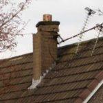 aerials on roof